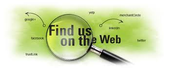 find us on the web